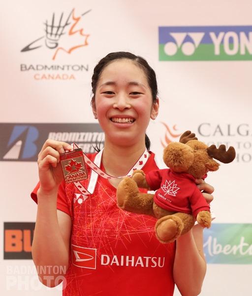 Canada Open 2017 women's singles champion Saena Kawakami