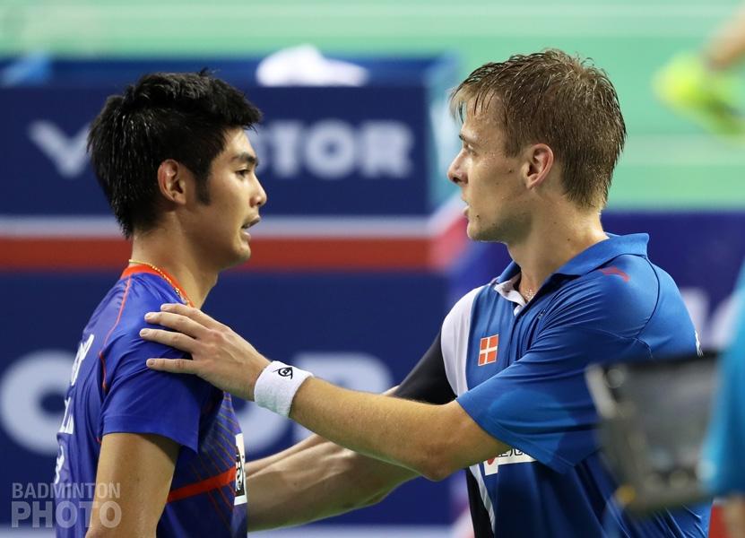 Pannawit Thongnuam after losing in 3 to Hans-Kristian Vittinghus at the 2017 Korea Open