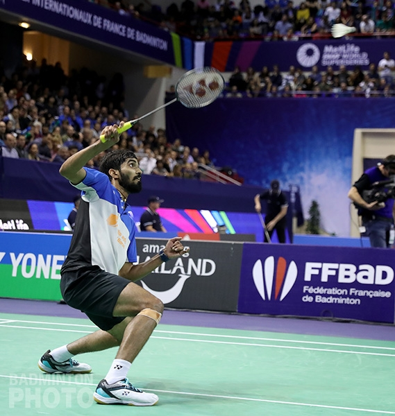 Srikanth Kidambi at the 2017 French Open