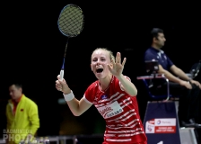 Mia Blichfeldt (DEN) after beating Chen Yufei at the 2018 Uber Cup