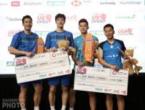 Ko Sung Hyun and Shin Baek Cheol with runners-up Wang/Lee on the podium of the 2019 U.S. Open