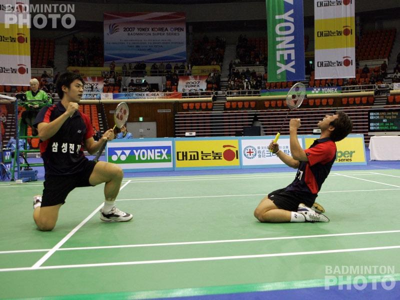 Lee Yong Dae / Jung Jae Sung winning the 2007 Korea Open