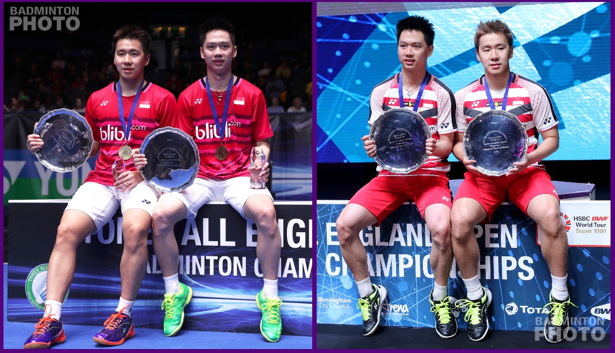 Kevin and Marcus All England 2017 and 2018