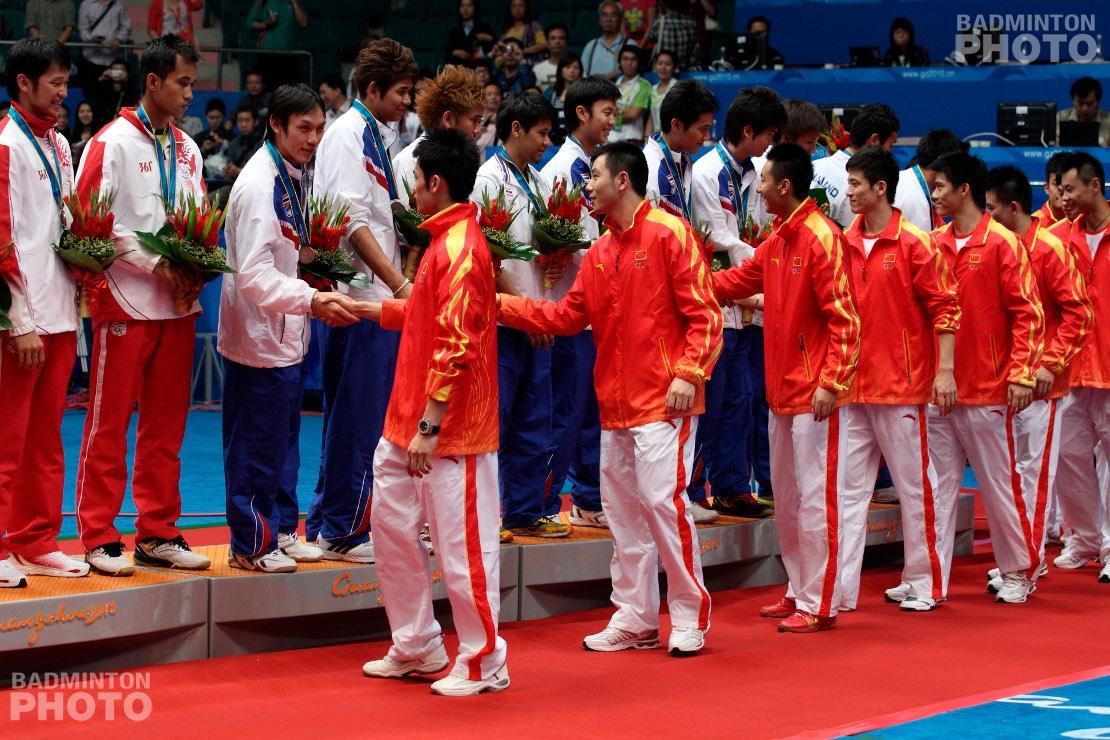 Men's Team Podium at the 2010 Asian Games