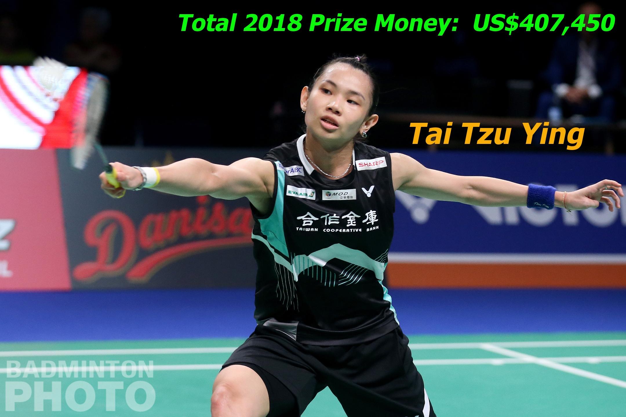 Tai Prize Money leader 2018