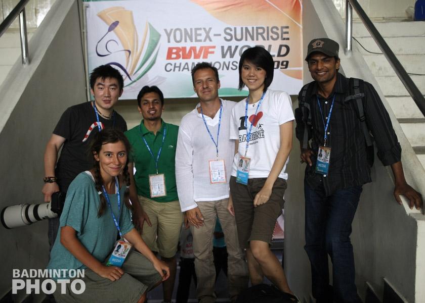 Team Badzine at the 2009 World Championships