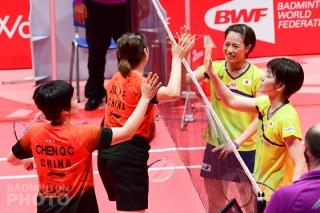Chen Qingchen / Jia Yifan (CHN) and Yuki Fukushima / Sayaka Hirota (JPN)