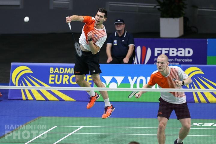Jelle Maas and Robin Tabeling of the Netherlands at the 2020 European Men's Team Championships