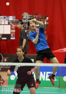 Yoo Yong Sung playing with Jenna Gozali at the 2017 Boston Open