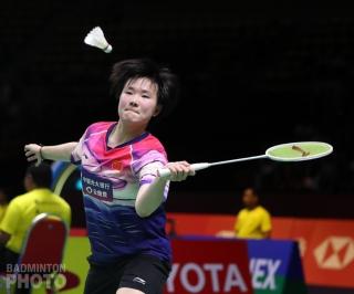 He Bingjiao at the 2019 Thailand Open