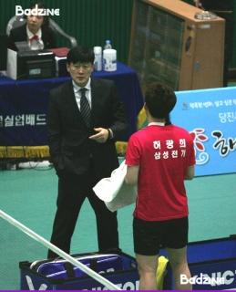 Kim Moon Soo coaching Heo Kwang Hee in 2014
