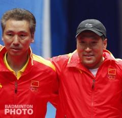 Tian Bingyi (left) and Li Yongbo