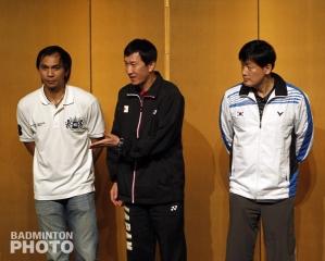 Flandy Limpele, Park Joo Bong, and Kim Moon Soo