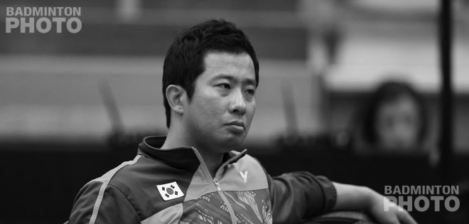 Jung Jae Sung coaching at the 2017 Canada Open