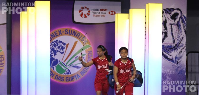 Greysia Polii / Apriyani Rahayu at the 2018 India Open