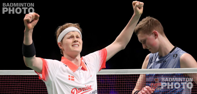 Anders Antonsen stunned defending champion Viktor Axelsen, while Rajiv Ouseph saved two match points to set up an unexpected men's singles final at the 2017 European Badminton Championships. By Don […]