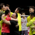 Li Junhui and Liu Yuchen held on to win a thrilling second doubles to secure China its first Thomas Cup in 6 years. By Don Hearn.  Photos: Badmintonphoto (live from […]