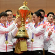 Team China lifted the Suhandinata Cup for the 5th straight time, beating Korea 3-1 in the final. By Don Hearn.  Photos: Luis Veniegra / Badmintonphoto (live) The Suhandianta Cup, the […]