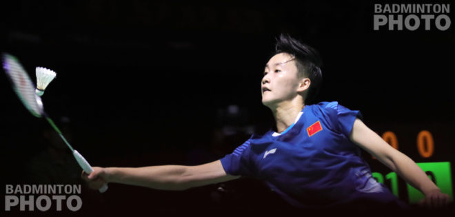 It was her first ever title above a Grand Prix Gold and China's first in women's singles at that level in over two years as Chen Yufei beat Nozomi Okuhara […]