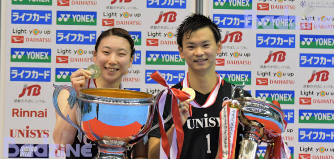 Two–time women's doubles World Champions Nagahara and Matsumoto grabbed their first All Japan tournament title, while Watanabe picked up two and Momota repeated as national champion. Story and photos by […]