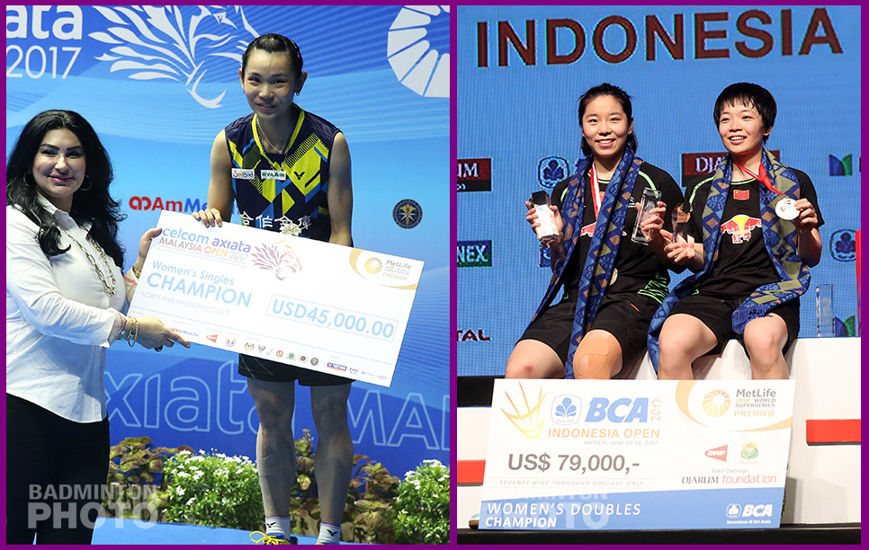 Badminton's top prize winners of last year could be on their way to breaking records in 2017, as both Tai Tzu Ying and Chen Qingchen had won well over half […]